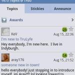 Το Tapatalk σε Android συσκευές